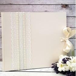 """Сватбена книга за пожелания """" Екрю и перли"""""""
