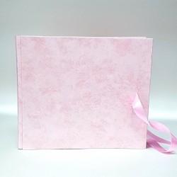 """Сватбена книга за пожелания """"Розов сатен"""""""
