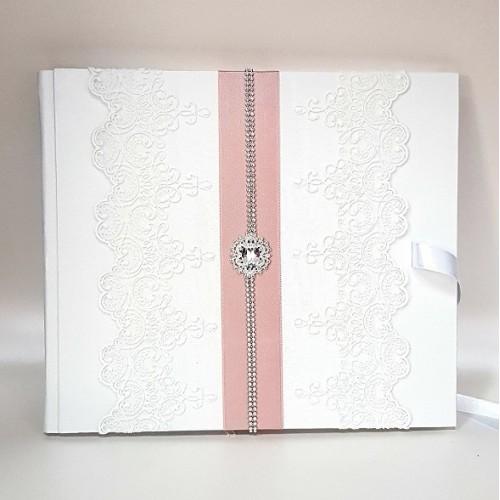 """Сватбена книга за пожелания """" Пепел от рози и кристали"""""""