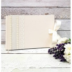 """Сватбена книга за пожелания """"Сатен и перли"""""""