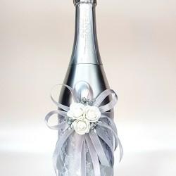 """Ритуално шампанско """"Бели рози и сребро"""""""
