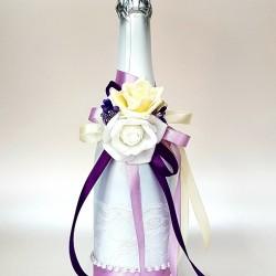 """Сватбено шампанско """"Лила и перли"""""""