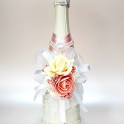 """Сватбено шампанско """"Роза и перли"""""""