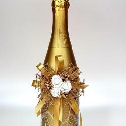 """Ритуално шампанско """"Бели рози и злато"""""""