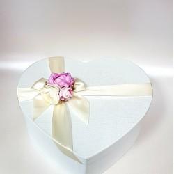 """Сватбена бяла кутия  """"Злато и Циклама"""""""