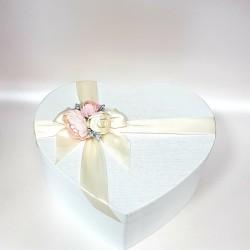 """Сватбена бяла кутия  """"Сребро и Пудра"""""""