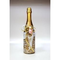 """Ритуално шампанско """"Злато и цветове роза"""""""