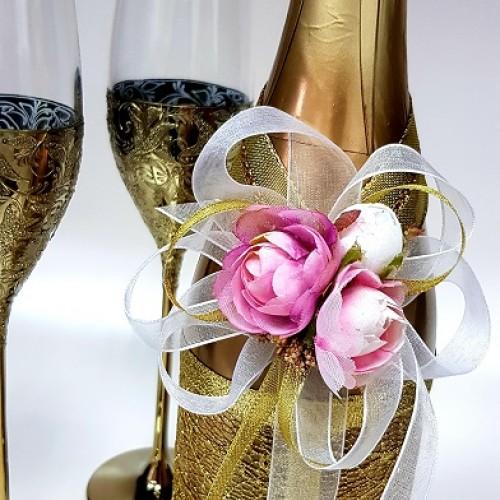 """Ритуално шампанско """"Злато и циклама"""""""