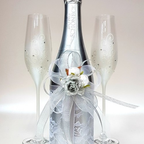 """Ритуално шампанско """"Дантела в сребро"""""""