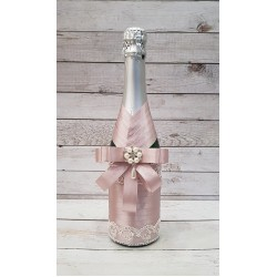 """Сватбено шампанско """"Светла Винтидж роза"""""""