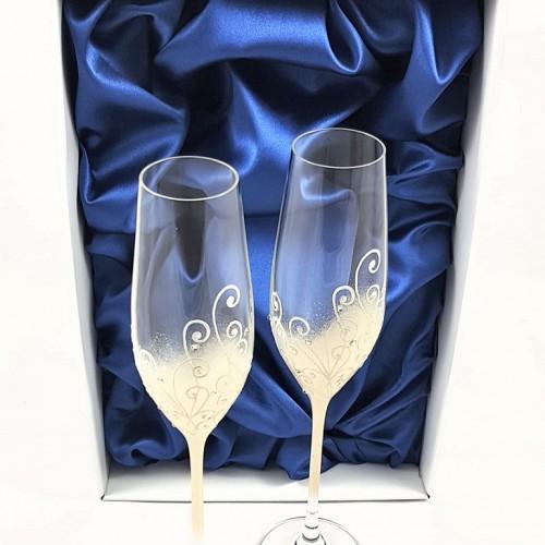 Кристални ритуални чаши  с камъни Swarovski 1001