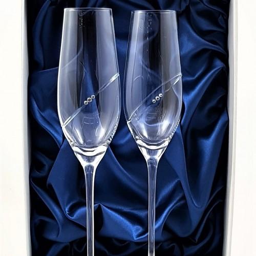 Кристални чаши с камъни Swarovski 1006