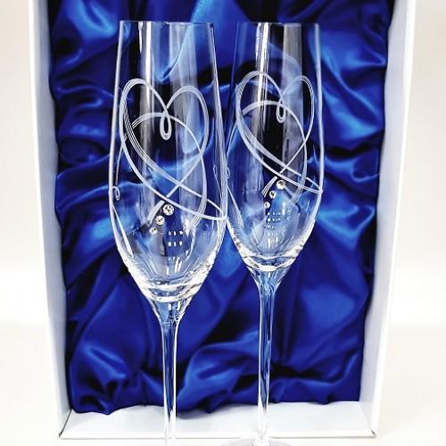 Кристални чаши с камъни Swarovski 1017