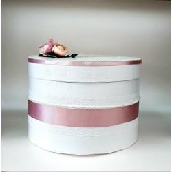 """Сватбена кутия за пари """" Пудра и цветя"""""""