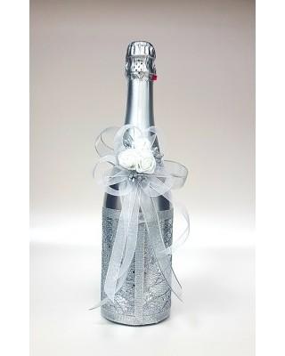 """Ритуално шампанско """"Бели рози и блясък"""""""
