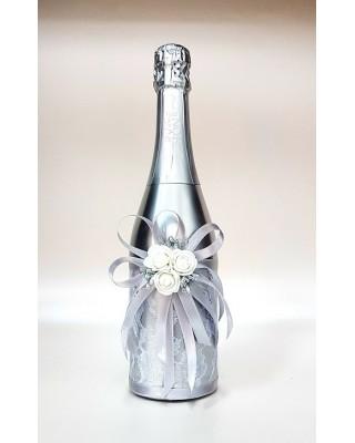 """Ритуално шампанско """"Сребро и бели рози"""""""