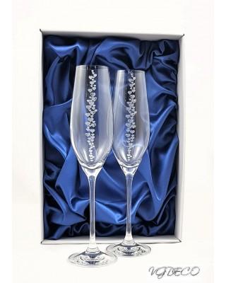 Кристални чаши с камъни Swarovski 1004